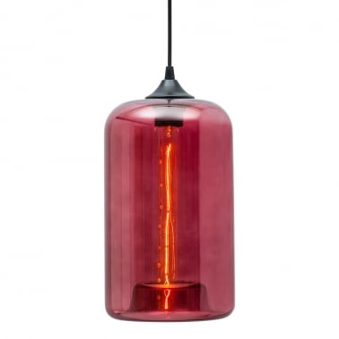 Industrial Pod Modern Pendant Light - Watermelon