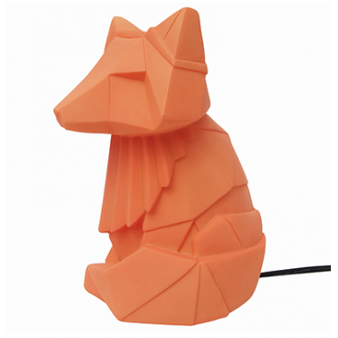 Geometric LED Fox Lamp - Orange