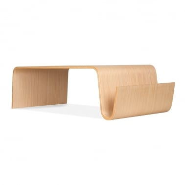 Bentwood Coffee Table & Magazine Rack - Natural
