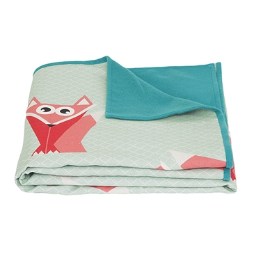 Fox Geo Forest Blanket Throw, Teal