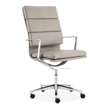 Soft Pad Office Chair with High Back – Grey