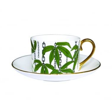 China Cup and Saucer - Green
