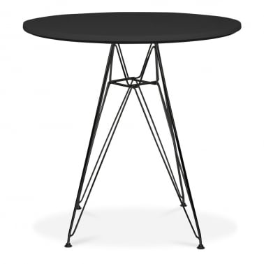 DSR Round Dining Table - Black 70cm