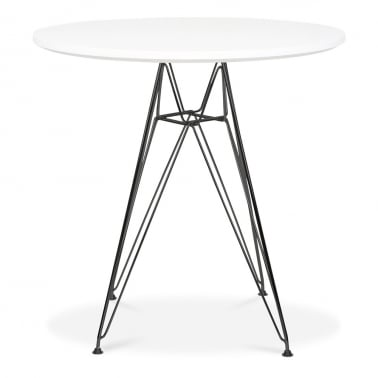DSR Round Dining Table - White 70cm