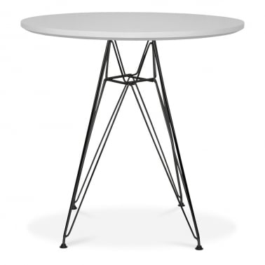 DSR Round Dining Table - Light Grey 70cm