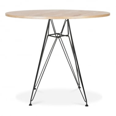 DSR Round Dining Table - Natural 90cm