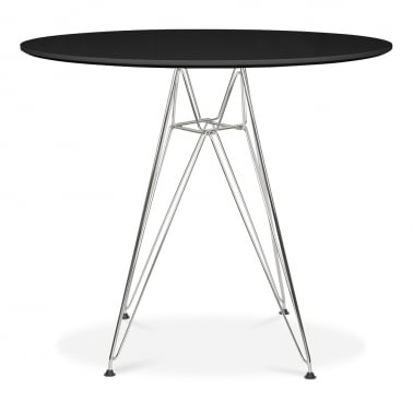 DSR Round Dining Table - Black 90cm