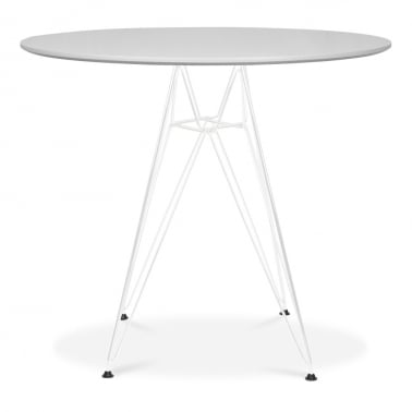 DSR Round Dining Table - Light Grey 90cm