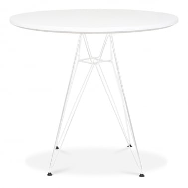 DSR Round Dining Table - White 90cm