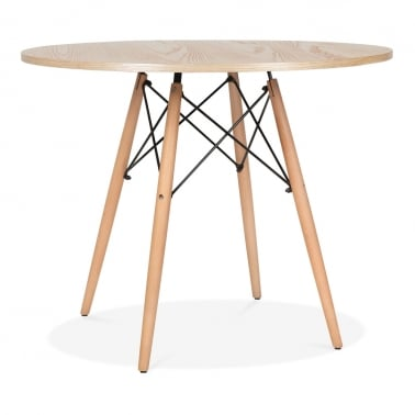Natural DSW Round Dining Table - Diameter 90cm