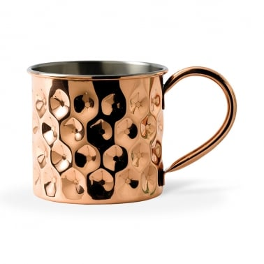 Hendrix Solid Copper Dented Mug
