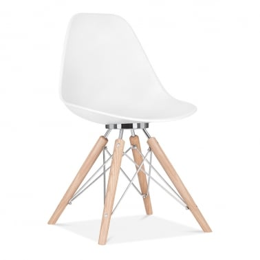 Moda Eiffel Style Plastic Dining Chair, White CD3
