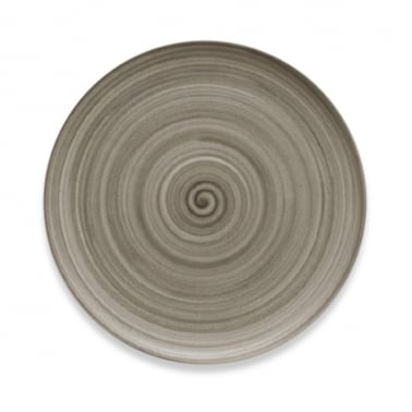 Signature Flat Coupe Plate With Wood Effect - 26cm