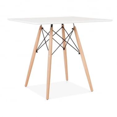White DSW Dining Square Table - 80cm