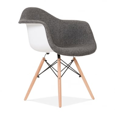 Upholstered Grey DAW Chair