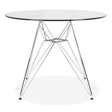 DSR Glass Dining Table - 90cm Diameter