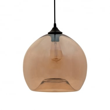 Edison Industrial Globe Modern Pendant Light - Saffron Orange