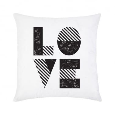 Love Cushion - Black & White