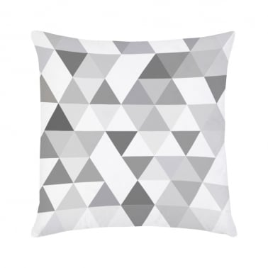 Geometric Suedette Triangle Cushion - Grey