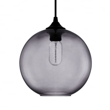 Industrial Solitaire Modern Pendant Light - Black