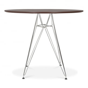 DSR Round Dining Table - Walnut 90cm