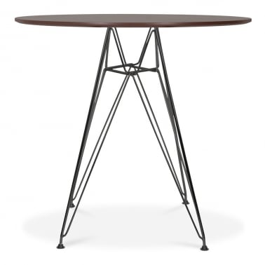 DSR Round Dining Table - Walnut 70cm
