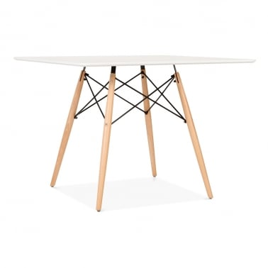 White DSW Dining Square Table - 100cm