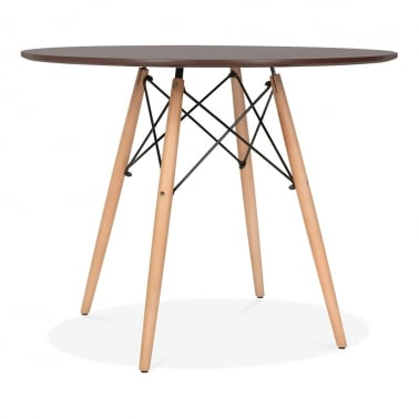 Walnut DSW Dining Round Table - Diameter 90cm