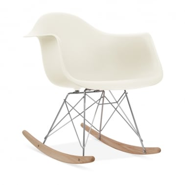 Off White RAR Style Rocker Chair
