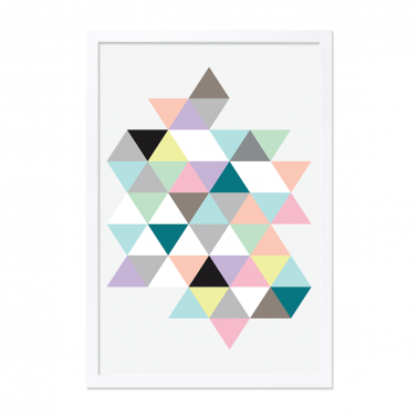 Moda Triangles Framed Print - A2 / A0