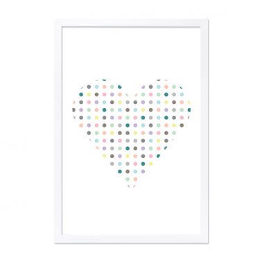 Moda Heart Framed Print - A2