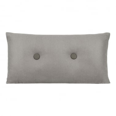 Poet Cushion With Double Button - Grey with Dark Grey Button