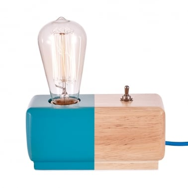 Alma Table Lamp - Blue / Natural