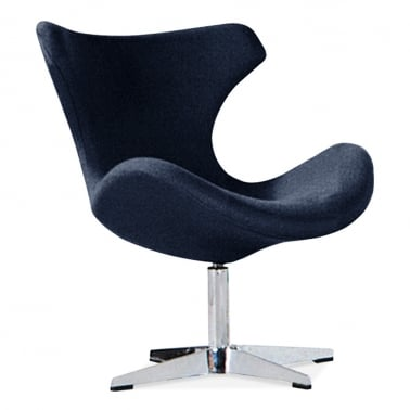 Vegas Lounge Chair With Aluminium Leg - Deep Navy Blue