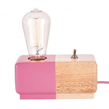 Alma Table Lamp - Pink / Natural
