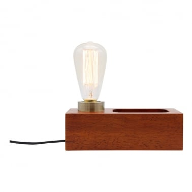 Newton Wood Table Lamp – Brown