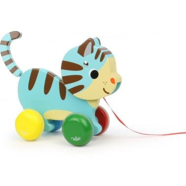Marcel The Cat Pull Along Wooden Toy