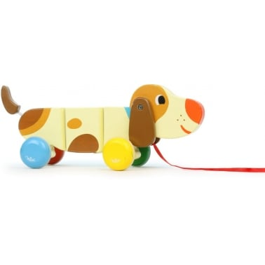 Basil The Dog Pull Along Wooden Toy