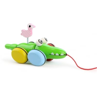 Croc and Odile Pull Along Wooden Toy