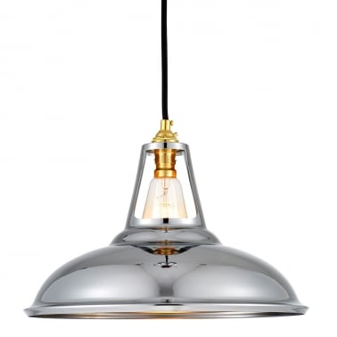 Dulwich Industrial Pendant Light - Chrome