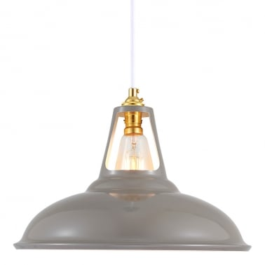 Dulwich Industrial Pendant Light - Cool Grey