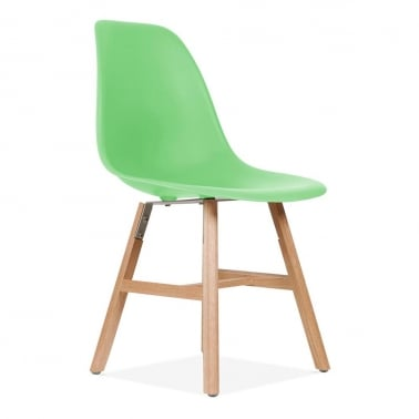 DSW Side Chair With Windsor Style Legs - Bright Green