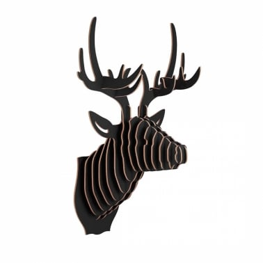Wood Safari Trophy Animal Head - Deer