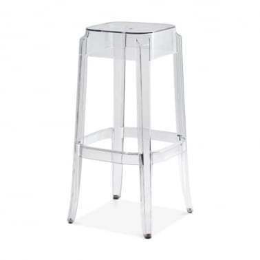 Ghost High Stool - Clear 75cm