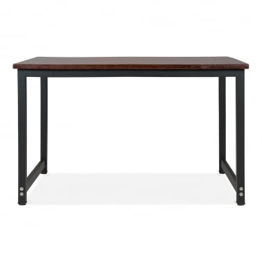 Bastian Dining Table - Gunmetal 80cm