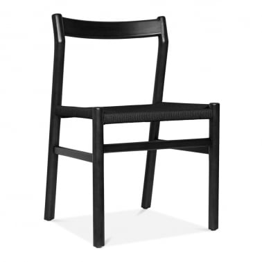 Knightsbridge Dining Chair - Black / Black Seat