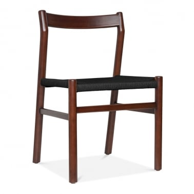 Knightsbridge Dining Chair - Brown / Black Seat