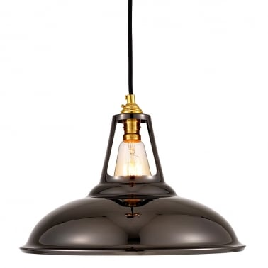 Dulwich Industrial Pendant Light - Pearl Black