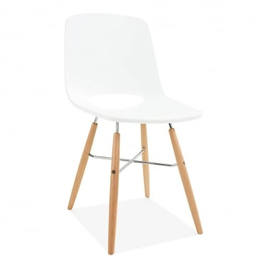 Carlsen Dining Chair with DSW Style Legs - White