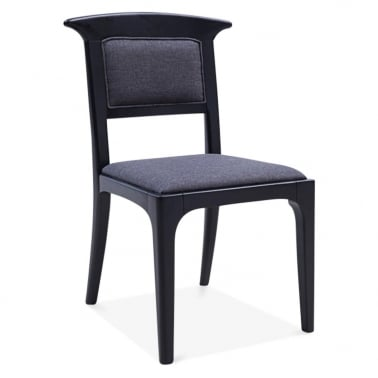 Clara Wooden Dining Chair - Black